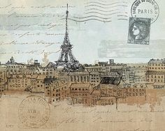 Avery-Tillmon-Cities-I-Paris-Fertig-Bild-20x25-Wandbild-Postkarte-Staedte
