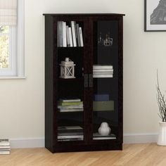 For Altra Black Forest Gl Door Bookcase Get Free Shipping At