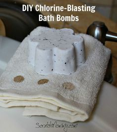 Blast the chlorine out of your water with these DIY chlorine-blasting bath bombs!