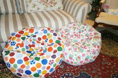 child's bean bag pattern - comprehensive instructions and pattern Bean Bag Seats, Bean Bag Bed, Diy Bean Bag, Bean Bag Chair, Childrens Bean Bags, Kids Bean Bags, Bean Bag Pattern, Modern Bean Bags, Bamboo Dining Chairs