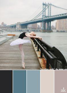 a ballerina-inspired color palette - Akula Kreative