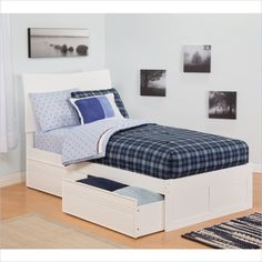 Soho Bed with Drawers in White - AR91X2112 - Lowest price online on all Soho Bed with Drawers in White - AR91X2112