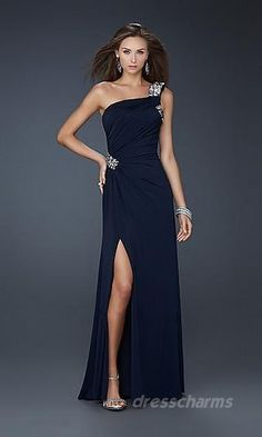 The slit could be smaller/not so high on the leg but pretty dress!