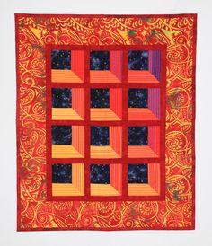 Attic window, with fabric folding technique