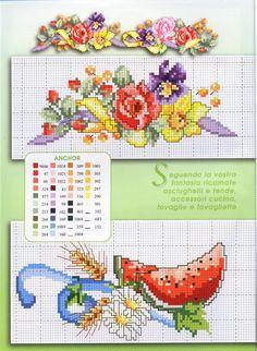images attach c 9 105 524 Cross Stitch Fruit, Cross Stitch Cards, Cross Stitch Borders, Cross Stitch Flowers, Cross Stitch Designs, Cross Stitching, Cross Stitch Embroidery, Hand Embroidery, Cross Stitch Patterns