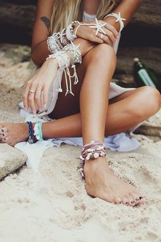 SUMMER fashion, boho chic jewelry, modern hippie style. For MORE Bohemian ideas FOLLOW http://www.pinterest.com/happygolicky/the-best-boho-chic-fashion-bohemian-jewelry-gypsy-/ #bohemian ☮k☮ #boho