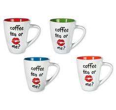 Coffee Tea or me? Tassen Set. Hier bei www.closeup.de