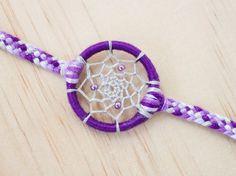 Purple Passion Dreamcatcher Bracelet by ItDoesntMatterInk on Etsy