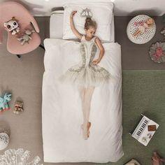 Voor elk meisje dat droomt om een #ballerina te zijn is dit Snurk Ballerina flanel dekbedovertrek - #meisjeskamer #snurk #flanel #inspiratie