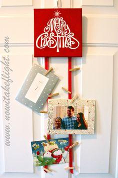 Cute DIY Christmas Card Holder