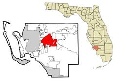 Location in Lee County, Florida.  Wikapedia