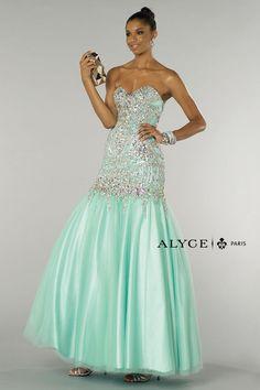 Alyce Paris 6371 Beaded Mermaid Dress - French Novelty