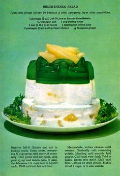 Under-the-sea jell-o salad recipe (1963)