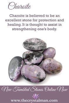 Charoite ~ Protection-Healing-Strength Shop new crystals online now at The Crystal Man!