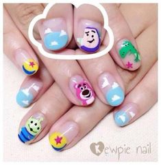Ideas for nails disney designs cute Nail Polish Designs, Cute Nail Designs, Nails Design, Toy Story Nails, Sun Nails, Seasonal Nails, Trendy Nail Art, Disney Nails, Autumn Nails
