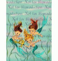 Vintage Baby Mermaids