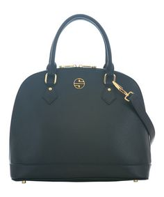 Another great find on #zulily! Black Melodie Leather Tote by Segolene En Cuir #zulilyfinds