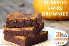 Pumpkin Swirl Brownies #delicious #falldessert