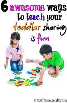 Is your toddler having a difficult time sharing? These awesome ways will teach your toddler how to share in a fun way! By sharing your toddler will start developing good manners and social skills. Helpful tips that are easy to implement . Pin now!