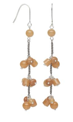 gemstone bead earrings  #jewelry