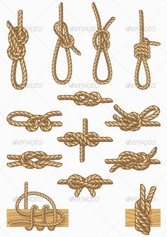 nautical knots at the corners of arbor for ceremony, with fabric and lace tie streaming down