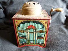Antique wind up music box