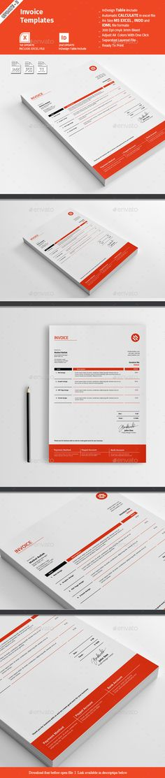 Retro Minimal Invoice Template  Template Minimal And Retro