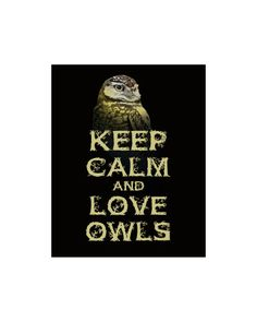 Keep Calm and Love Owls Print Halloween by FunKeepCalmArtPrints, $12.00