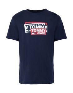 TOMMY JEANS T-shirt. #tommyjeans #cloth Printed Shirts, Tee Shirts, Tommy Jeans T Shirt, Shirt Print Design, Tommy Hilfiger Jeans, Dark Blue, Short Sleeves, Mens Fashion, Aldo