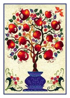 The holiday season is a great opportunity for us to surpass … - Art of Epoxy Jewish Crafts, Jewish Art, Yalda Night, Arte Judaica, Pomegranate Art, Pomes, Merian, Guache, Fruit Art