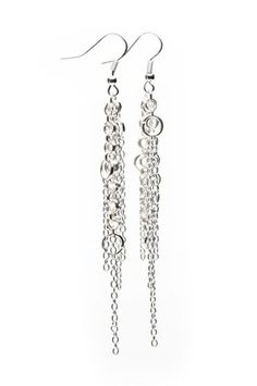 The Shooting Star Earring in Silver by Decorus Envidia Jewelry from MFredric.com