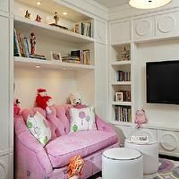 Fanny Haim and Associates - girl's rooms - kids room, kids playroom, girls playroom, floor to ceiling cabinets, wall to wall cabinets, floor...