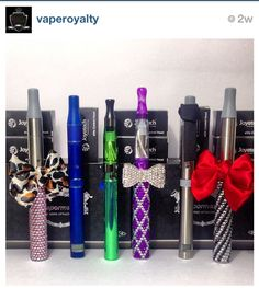 Vapes with bows. I need one so I can re fill it, my blu ran out.. mehh