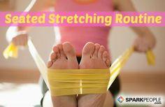 Add This Energizing Full-Body Stretch Routine to Your Workday Rotina de alongamento sentado Chronic Fatigue Syndrome, Chronic Illness, Chronic Pain, Fibromyalgia Exercise, Fibromyalgia Pain Relief, Treating Fibromyalgia, Stretch Routine, Spark People, Love Handles