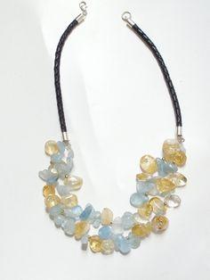 Citrine & Aquamarine Necklace