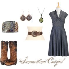 """Summertime Cowgirl"" by livvytaylor on Polyvore"