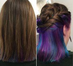 rainbow hair caché - Les cheveux mi-longs