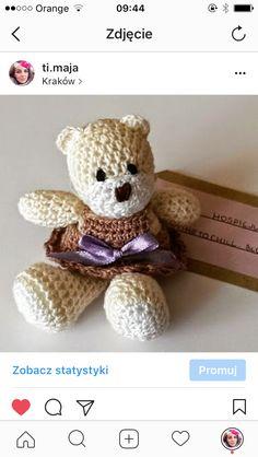 Handmade szydełko miś teddy bear szycie diy crochet timaja