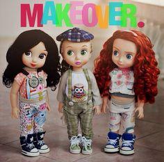 Disney Animator's Collection Dolls Snow White, Rapunzel, Merida.