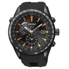 Seiko Astron GPS Solar World Time Titanium Men's Watch SAST025 #Seiko