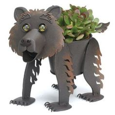 "Georgetown Mini Metal 4""Planter- Baby Bear"