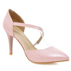 SHARE & Get it FREE | Simple Women's Pumps With Pointed Toe and PU Leather DesignFor Fashion Lovers only:80,000+ Items • New Arrivals Daily • Affordable Casual to Chic for Every Occasion Join Sammydress: Get YOUR $50 NOW!