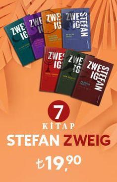 Stefan Zweig'ın benzersiz kitapları tek bir set ile bir araya getirilmiş. Stefan Zweig, Store Design, Books, Libros, Book, Book Illustrations, Design Shop, Libri