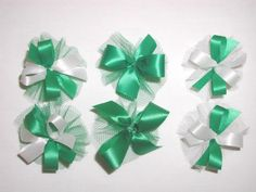 AC0907 - Green Hair Bow collection