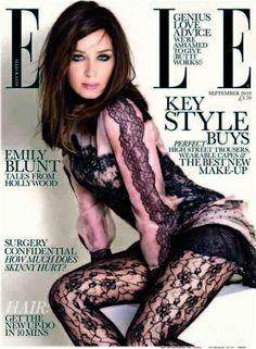 Emily Blunt in a Lace Lingerie is listed (or ranked) 3 on the list The 10 Hottest Emily Blunt Bikini Photos Emily Blunt, Photo Glamour, Jolie Lingerie, Lace Lingerie, Elle Magazine, Magazine Covers, Bikini Models, Bikini Pics, Hot Bikini