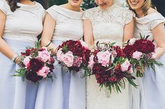 Peony bouquets by Bloomsday Flowers | Stunning and Chic Wedding At Longueville House by Antonija Nekic Photography | www.onefabday.com