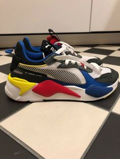 f06695c25ccc Details about New PUMA RS-X Toys Unisex Athletic Shoes Sneakers White Royal Red  369449 02
