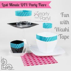 DIY Washi Tape ideas to brighten up your disposable tableware or place setting by #Smartyhadaparty