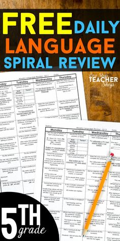 Free 5th grade i can grammar game perfect verb tense game free free 5th grade language homework or morning work this 5th grade language spiral review covers all grammar and word study standards sciox Images