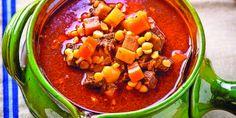 Egy finom Gulyásleves sárgaborsóval vacsorára, ebédre Tortellini, Chana Masala, Chili, Salsa, Soup, Mexican, Ethnic Recipes, Gravy, Chili Powder